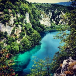 #croatia #plitvika #plitvice #landscape #water #lakes #trees #rocks  (Taken with Instagram)