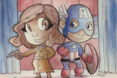 Captain America and Peggy Carter painted for SDCC. Fan Expo is a month away! I shall be there. :) If you are interested in getting a commission please shoot me an email to get on my pre-order list! I am already getting emails about this show. I want to make sure I don't disappoint anyone anyone interested in a commission who may ask too late at the show since my list always fills up. My email is agnes (at) mymisiu (dot) com. I don't want to get spam so I typed it this way. Sorry! I will also have my books and lots of cute prints at this show! I also do at home commissions if you can't make a convention I am attending! After that… New York Comic Con! :) See you there! -Agnes