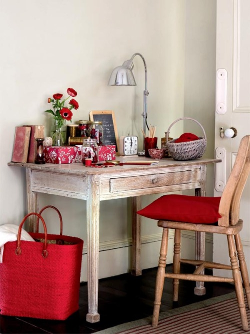 myidealhome:   cute red accents