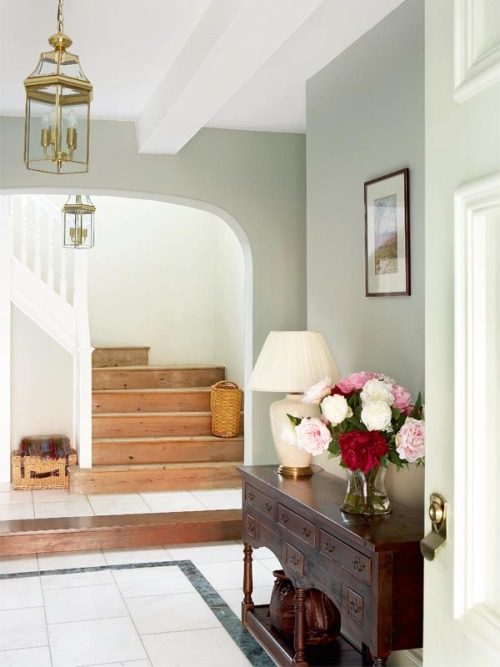 elegant grey foyer