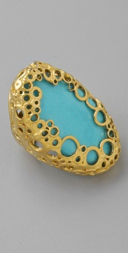 This Alexis Bittar klimt turquoise ring makes my heart pound.