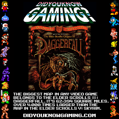 didyouknowgaming:  The Elder Scrolls Daggerfall and Skyrim.  Submitted by retrolinkx.
