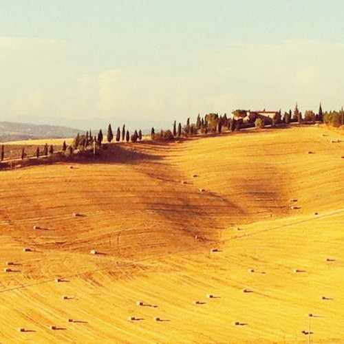 Beautiful Tuscany @Laticastello. #Italy #Tuscany #hotel #amazing #vacations #haystacks #photography #sunset #beauty #speechless #golden #cypress #landscape #farm #countryside (Taken with Instagram)
