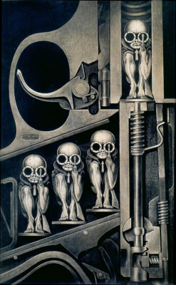 """Birth Machine"", 1967  By: H.R. GIGER (Hans Rudolf)…."