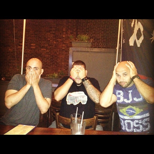 #Athru11 #GOONZ #BJJ #Ink #Tats #NYC #Beer #SpeakNoEvilSeeNoEvilHearNoEvil (Taken with Instagram)