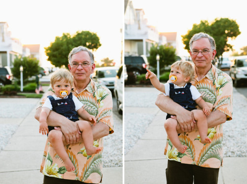 Dad & Max at the shore.