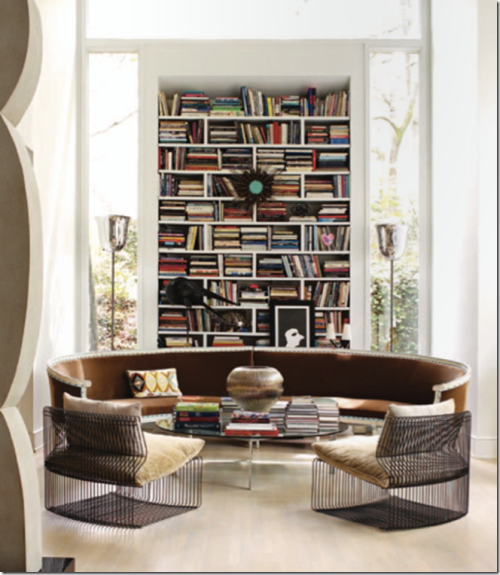 design living with a cool home library