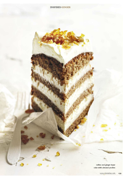 Coffee and ginger layer cake.