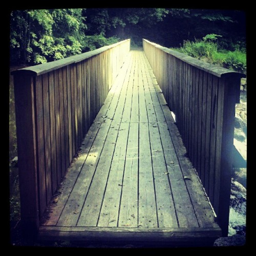 Wood bridge over #Akerselva #Oslo #Norge #æøå  (Taken with Instagram)