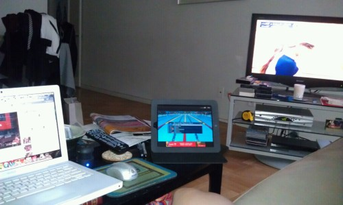 That's Olympics on 3 screens. Yep.