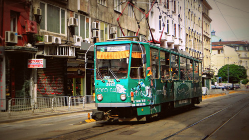 grafikotki:  tram in Sofia (Bulgaria) by * Patrícia * on Flickr.