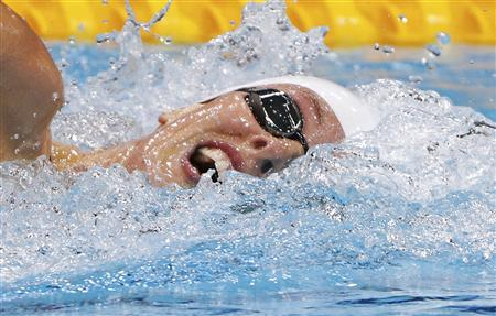 France's Camille Muffat swims during the women's 400m freestyle heats at the London 2012 Olympic Games at the Aquatics Centre July 29, 2012. REUTERS/David Gray France's Muffat win's women's 400m freestyle gold medal France's Camille Muffat won the women's 400 metres freestyle gold medal at the London Olympics on Sunday. Allison Schmitt of the United States was second while Beijing champion Rebecca Adlington took bronze.