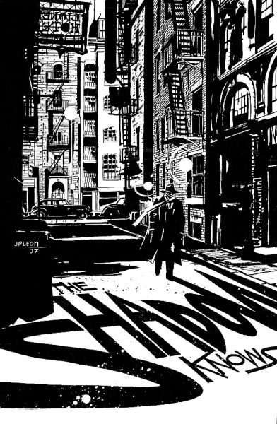 brianmichaelbendis:  The Shadow by John Paul Leon.