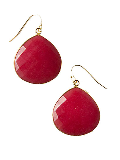 Watching the Olympics? Be festive with a pair of red drop earrings. (And if that isn't your color, they also come in an equally USA-centric blue!) Check out more that-to-wear advice here » anthropologie.com
