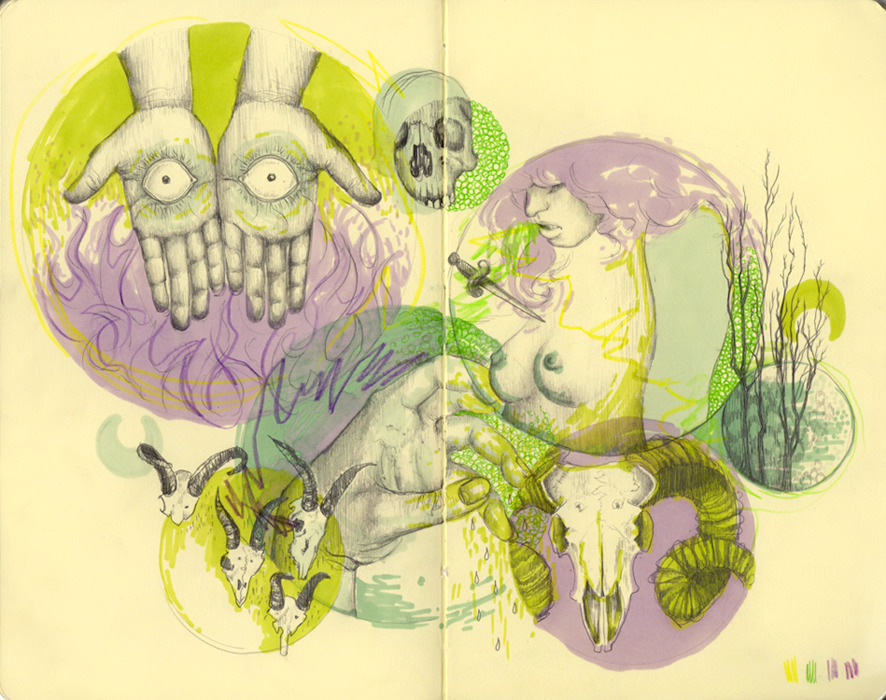 Sketchbook Drawing by Emma Blackhttp://www.emma-black.com