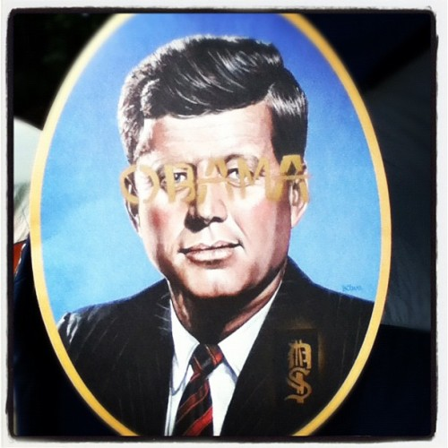 JFK Property of DickSwag #obama #graffiti #stencil #dickswag #scumbagcamping (Taken with Instagram)