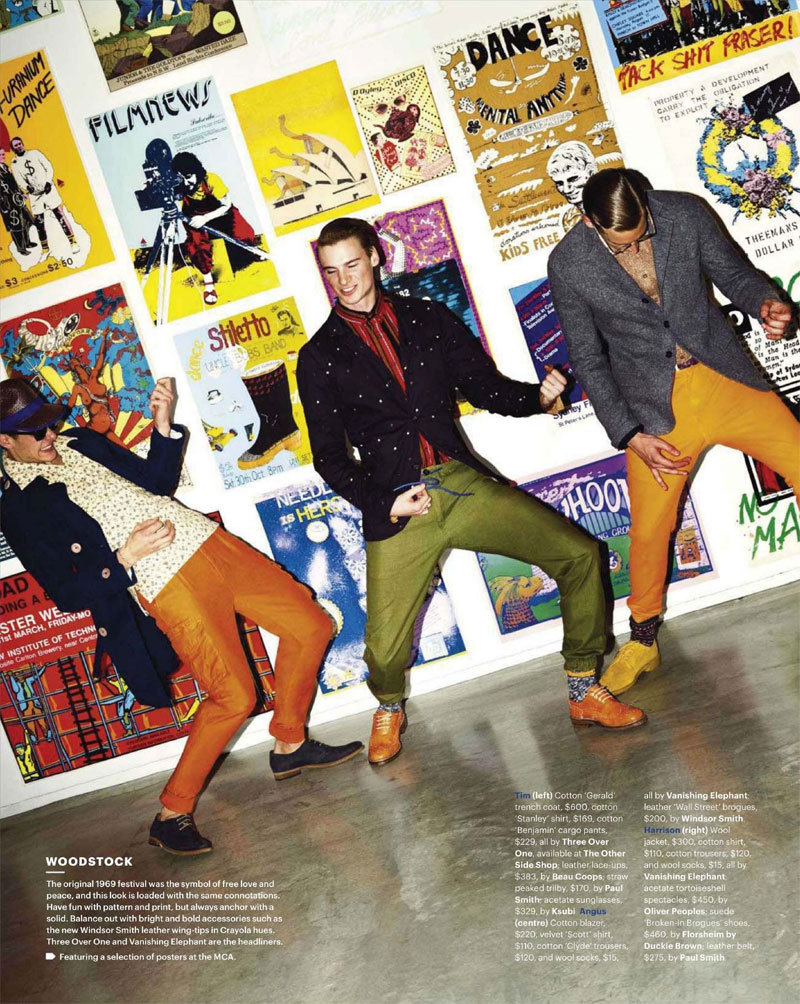 Angus Low, Harrison Dimitroff and  Tim Hamilton by She is Frank for GQ Australia