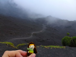 Tiny Hobbit B, I think you've found the Road to Mordor. Volcán Pacaya. Guatemala.