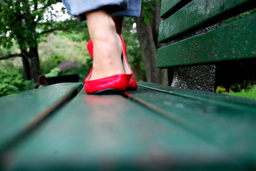 136*366 red shoes by tiatalula on Flickr.
