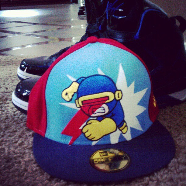 Today's set. #flight #jordans #tokidoki #59Fifty (Taken with Instagram)