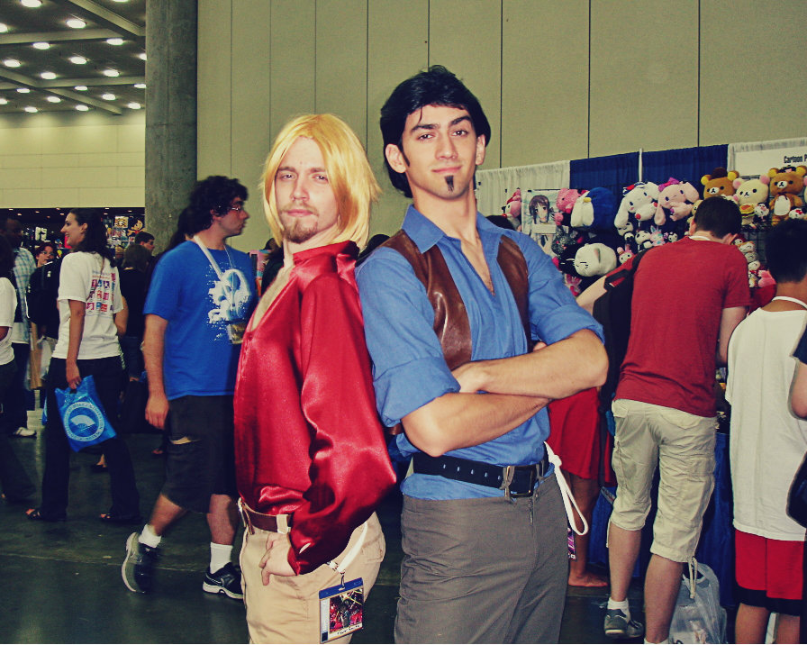 "thorslovelywhore:  coffeespook:   Taken at Otakon 2012. They were literally in character the whole time I was taking multiple pictures of them. By far one of the best cosplays. ""Miguel, this lady wants to take a picture of us."" ""Oh? Really?"" ""Why of course she does! After all, we're gods!""  OH MY GOSH THEY'RE PERFECT  oh my god i'm crying"