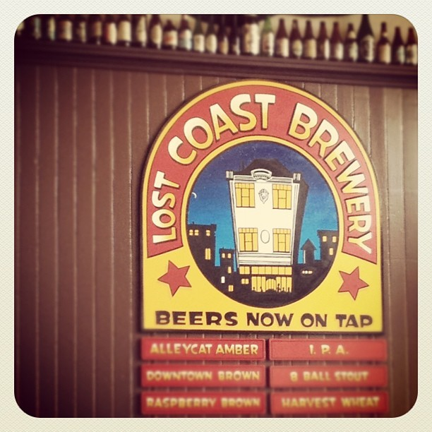 #lostcoast #lostcoastbrewery #eureka #california #craftbeer #beer #webstagram #sign  (Taken with Instagram at Lost Coast Brewery)