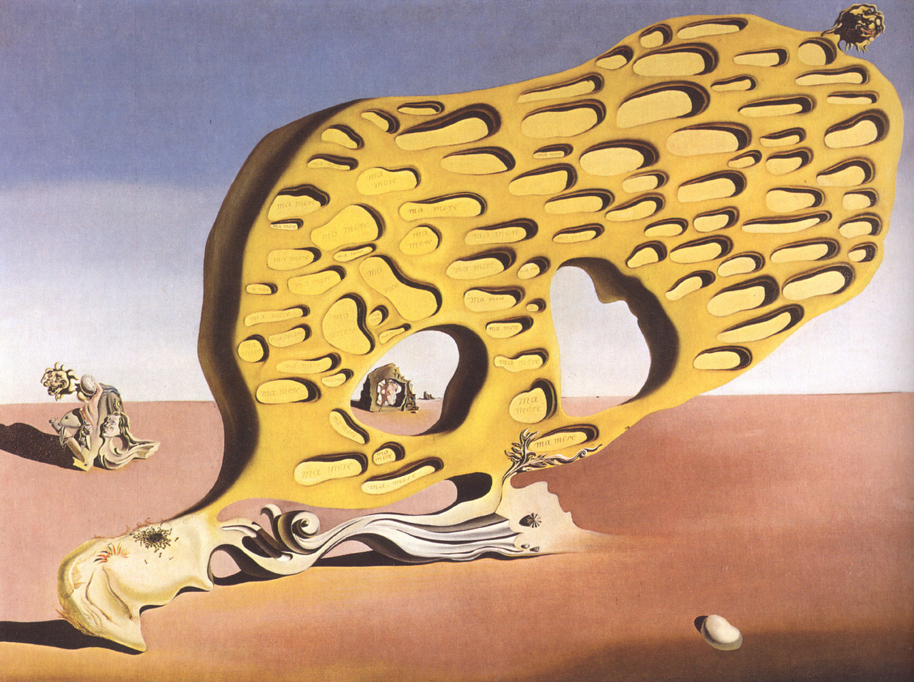 histoire-de-lart:  salvador dali, the enigma of my desire: my mother, my mother, my mother, 1929, oil on canvas