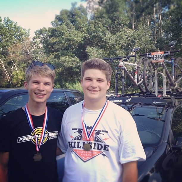Szymanski brother K.O. today! I had my best finish at 5th overall and @wildtrek had a great first race. (Taken with Instagram at Hillside Park)