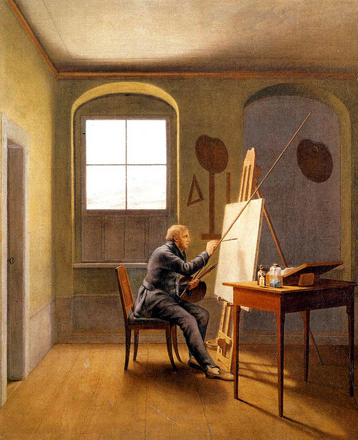George Kersting (German, 1785-1847), Caspar Friedrich in his Studio, 1811
