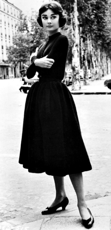 Audrey Hepburn in Givenchy, 1956