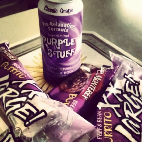 #proof that the 'rents love me, and/or think I'm a stoner #purplestuff #xxlburritos (Taken with Instagram)