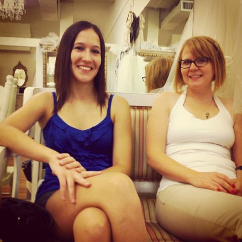Bridesmaids! Watching @dekanerab try on some loverly dresses.  (Taken with Instagram)
