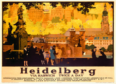 Heidelberg (c.1920) by Susanlenox on Flickr. Autor : Fred Taylor