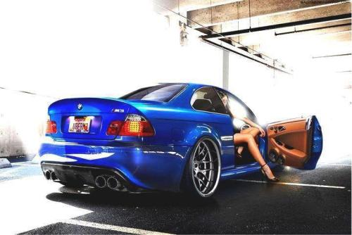 driftzombie:  For my newest followers, enjoy some stanced bimmer with a side of legs.