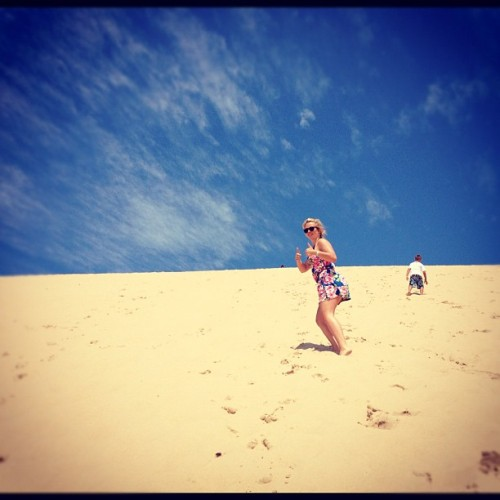 Climbing the sand dunes #sanddunes #silverlake #michigantourism (Taken with Instagram)