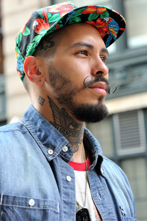 throughkaleidscopeeyes:  his diplomats eagle tat tho! i'm tryna dipset with him! lmao