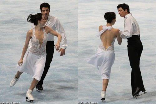 Tessa Virtue and Scott Moir's Mahler costumes at the 2009 Trophée Eric Bompard. Source: fotki.yandex.ru/users/kkfksenia/album/70124/?&p=7