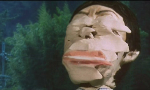 A claymation smear from Happiness of the Katakuris (2001). Submitted by Wendell Austell