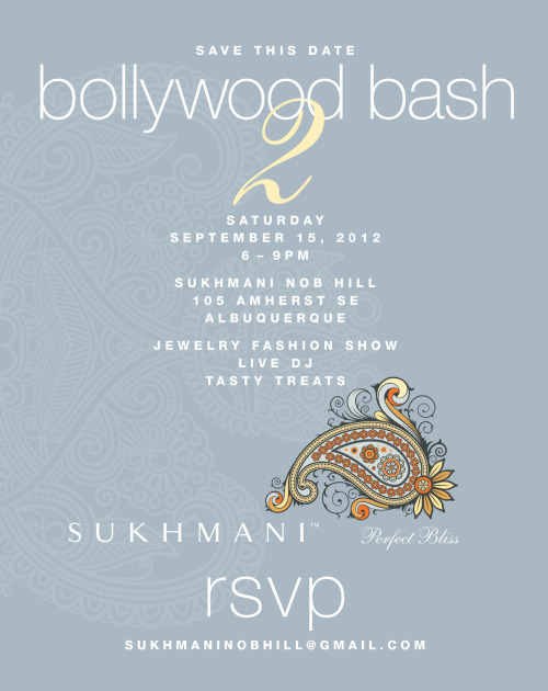 Don't forget to save the date for our 2nd Bollywood Bash on September 15th!