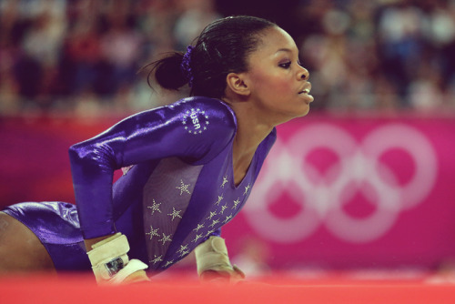 iamateenagefeminist:  fuckyeahfamousblackgirls:  Gabby Douglas does the floor exercise in the Gymnastics Women's Team qualification today  So badass!!