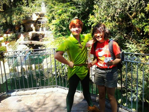 "bazeengaa:  peetasboxers:  samkind:  last friday i went to disneyland and i had a mickey ice cream bar but then i saw peter pan and asked for a picture with him so he jokingly took away my ice cream saying ""sweet thanks!!"" bUT HE DIDNT KNOW THAT IT WAS BROKEN AND THE TOP HALF FELL OFF AND DRAMATICALLY BROKE ON THE GROUND SO HE WAS LIKE OK WOW STAY THERE. AND HE CAME BACK W/ A CHURRO HE BOUGHT ME FOOD IT COUNTS AS A DATE MY FIRST DATE WAS WITH PETER PAN WHAT HAVE YOU DONE WITH YOUR LIFE  this is my favorite post   this Peter is actually so adorable!"