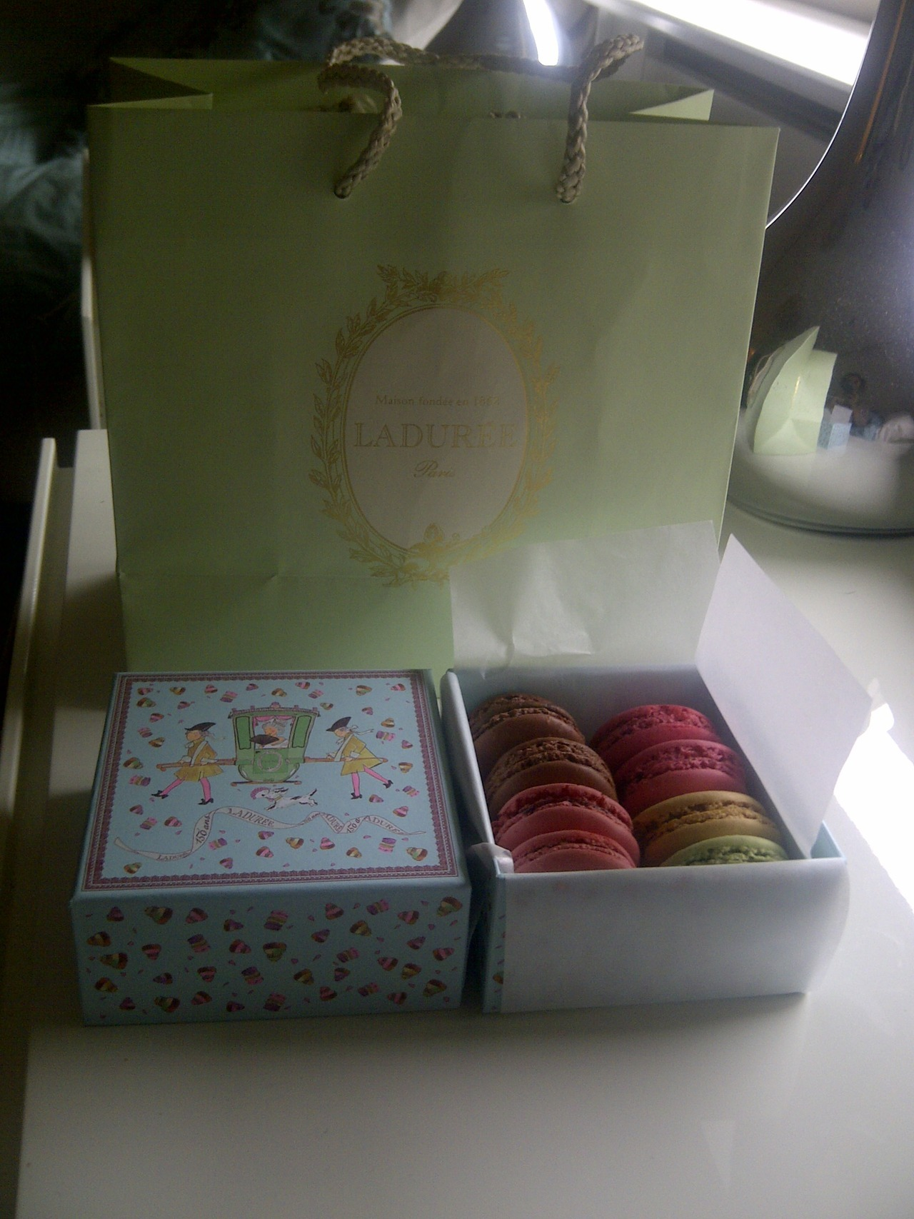 My days are always better when I've got a box of macaroons.