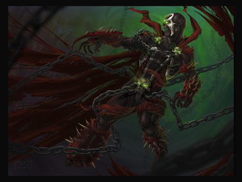 Spawn by ~PRATT-FACE Everyone loves Spawn! All right, just finished this one and I wanted to share it! Hope you all like it! Spawn belongs to McFarlane and Image Comics. This is my own take on the character while keeping true to the original design.  Oh, and of course I drew this via photoshop and please do not use this image for anything or post it anywhere without my permission first please (at least cite that I drew it)! Thanks!Photoshop CS6, probably between 20-30 hours? Not sure exactly….