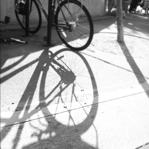 #b&w #picoftheday #shadow #bike #dc  (Taken with Instagram)