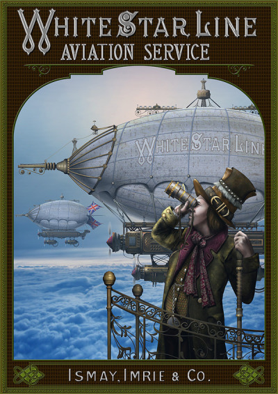 White Star Line Aviation Service (via Airships/Steampunk Project by Keith Donald - Behance Network)