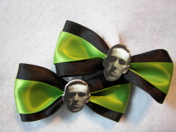H. P. Lovecraft hair clips on Etsy