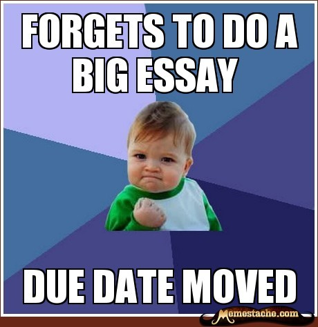 Success Kid: Forgets to do a big essay… http://bit.ly/PZ9dDK
