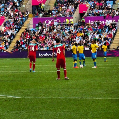 cany0ufindme:  Mexico 2 Gabon 0 #CovOlympicFootball #Coventry #Cov #football #London2012 #Olympics #UK  (Taken with Instagram)
