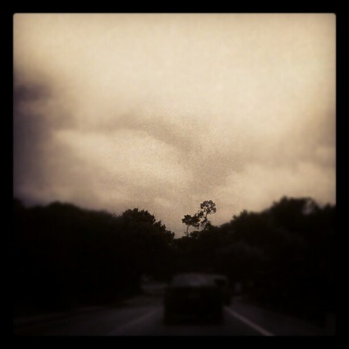 #road #trees #cloud #sky #fog #driving (Taken with Instagram)
