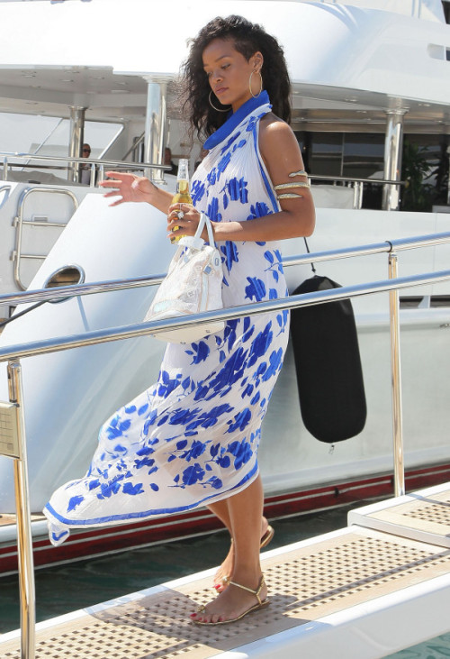 leaving the yacht